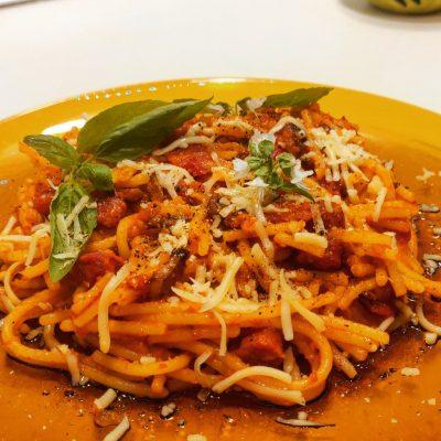 spaghete cu ciuperci fara gluten