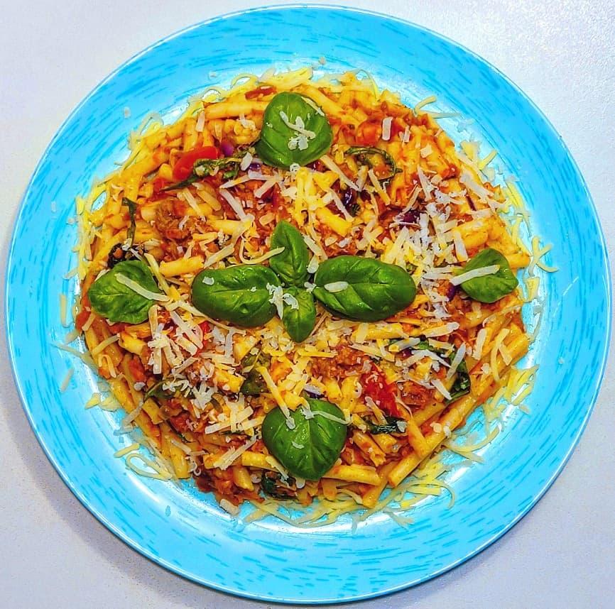 Spaghete bucatini cu ton